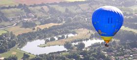Base de décollage en montgolfière dans l'ain