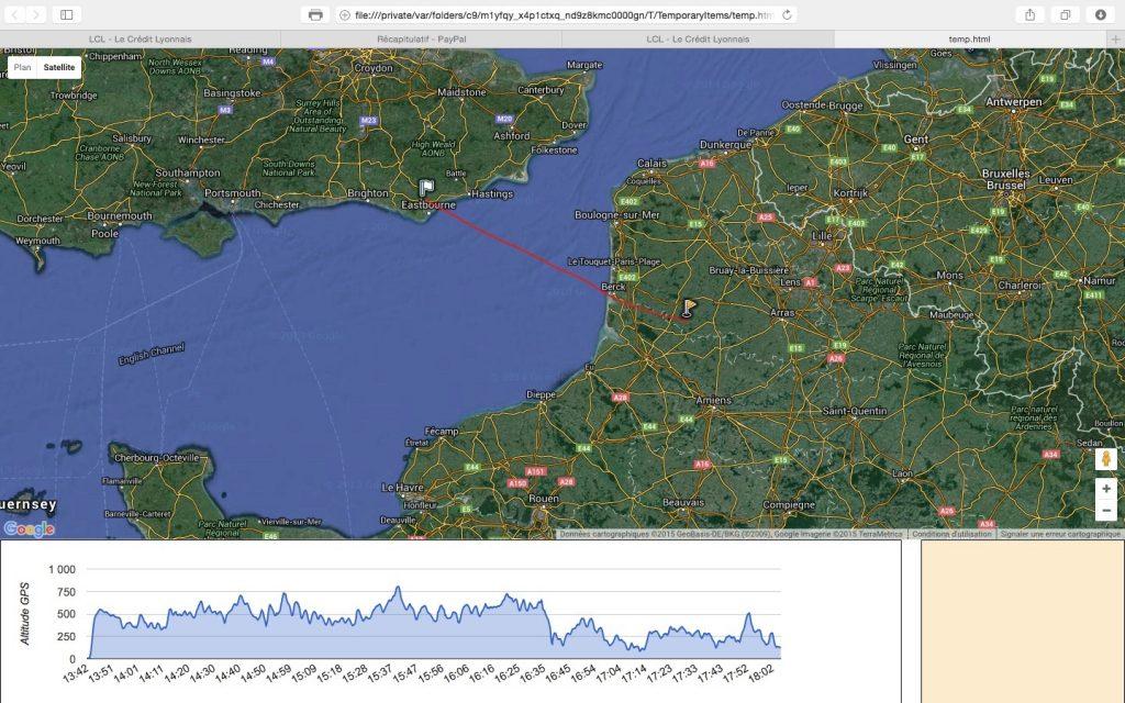 Traversée de la Manche en montgolfière et en solo
