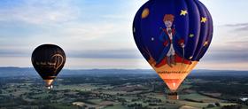 Base de décollage en montgolfière dans la loire