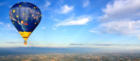 Base de décollage en montgolfière dans le rhone